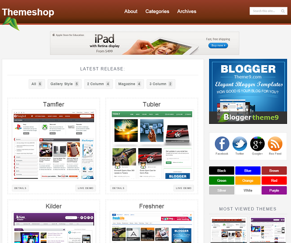 themeShop Blogger Template