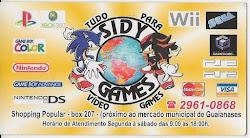 SIDY GAMES E ACESSÓRIOS