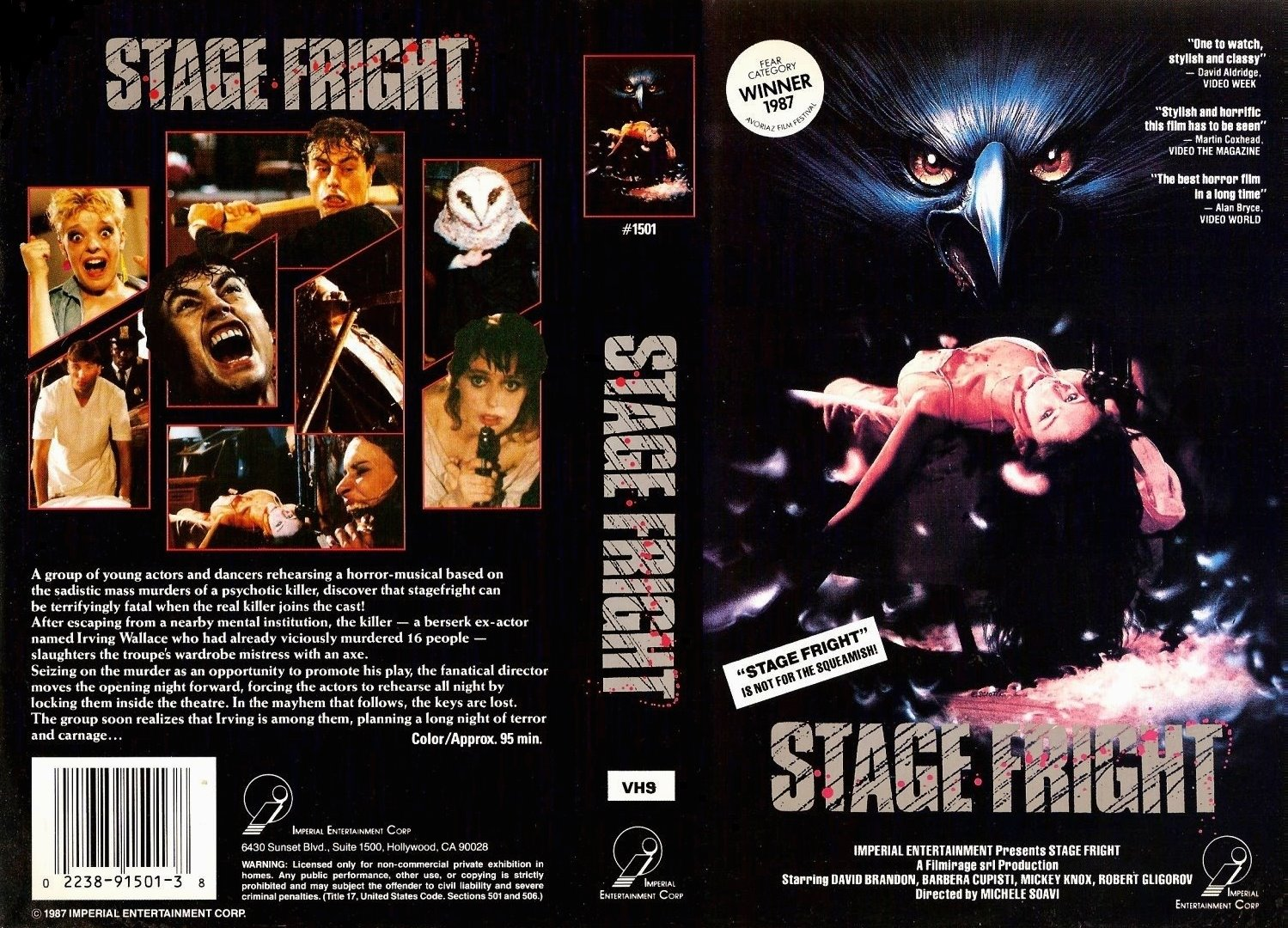 stage fright Stage fright  is the fifteenth episode of the second season of rl stine's the haunting hour: the series it first aired on january 14, 2012 it's the opening.