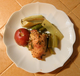 Plate of Rosemary Chicken with Fennel