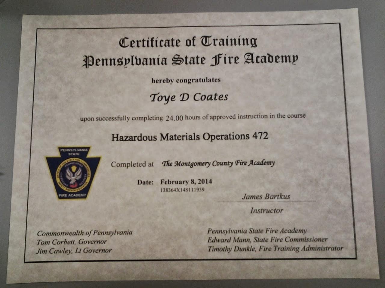 Hazmat Certification 282014 My Journey In Ems