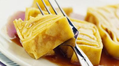Gâteau de crêpes au caramel de cidre