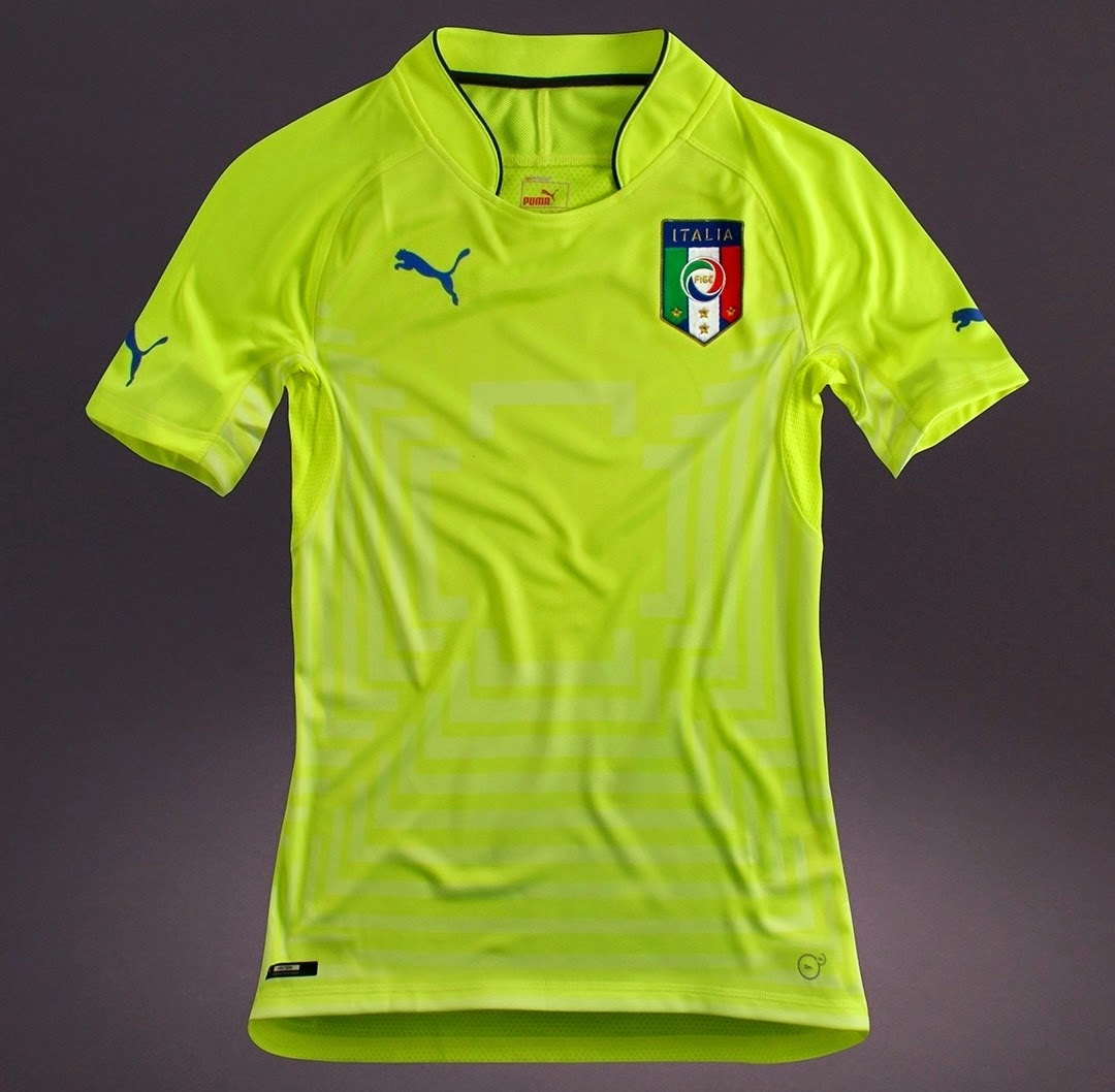 Jersey Italy GK away world cup 2014