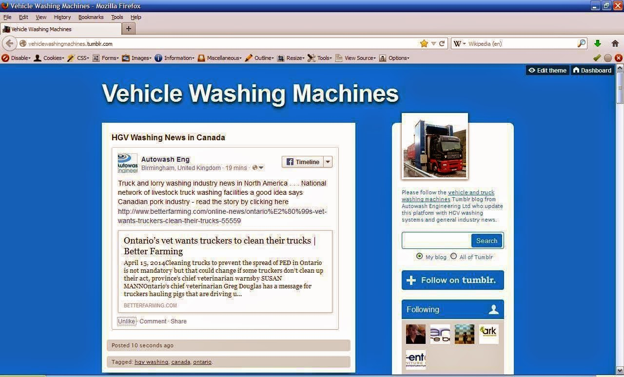 Click to visit and view the Autowash Engineering page on Tumblr . . .
