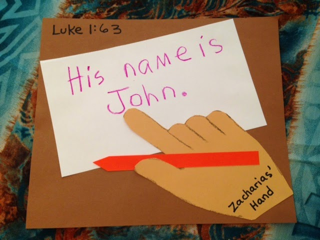 Children 39 s bible lessons lesson his name is john for Junior church lessons and crafts