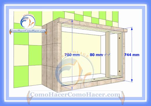 Cocina mesada de concreto gu a detallada para colocar for Como se dan las medidas de un mueble