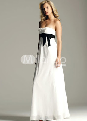 Empire Chiffon Graduation Dress