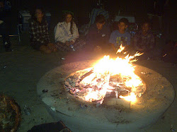After Sailing - bonfire on the beach!