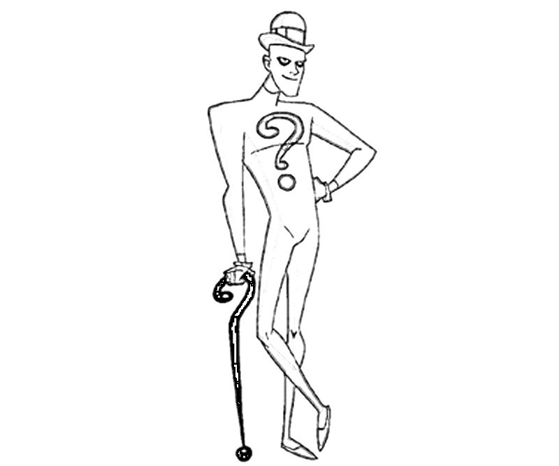 the riddler coloring pages - photo#6