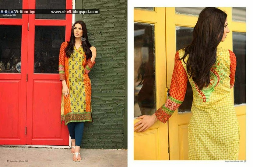Kalyan Lawn Kurti 2015 Launched by ZS Textiles