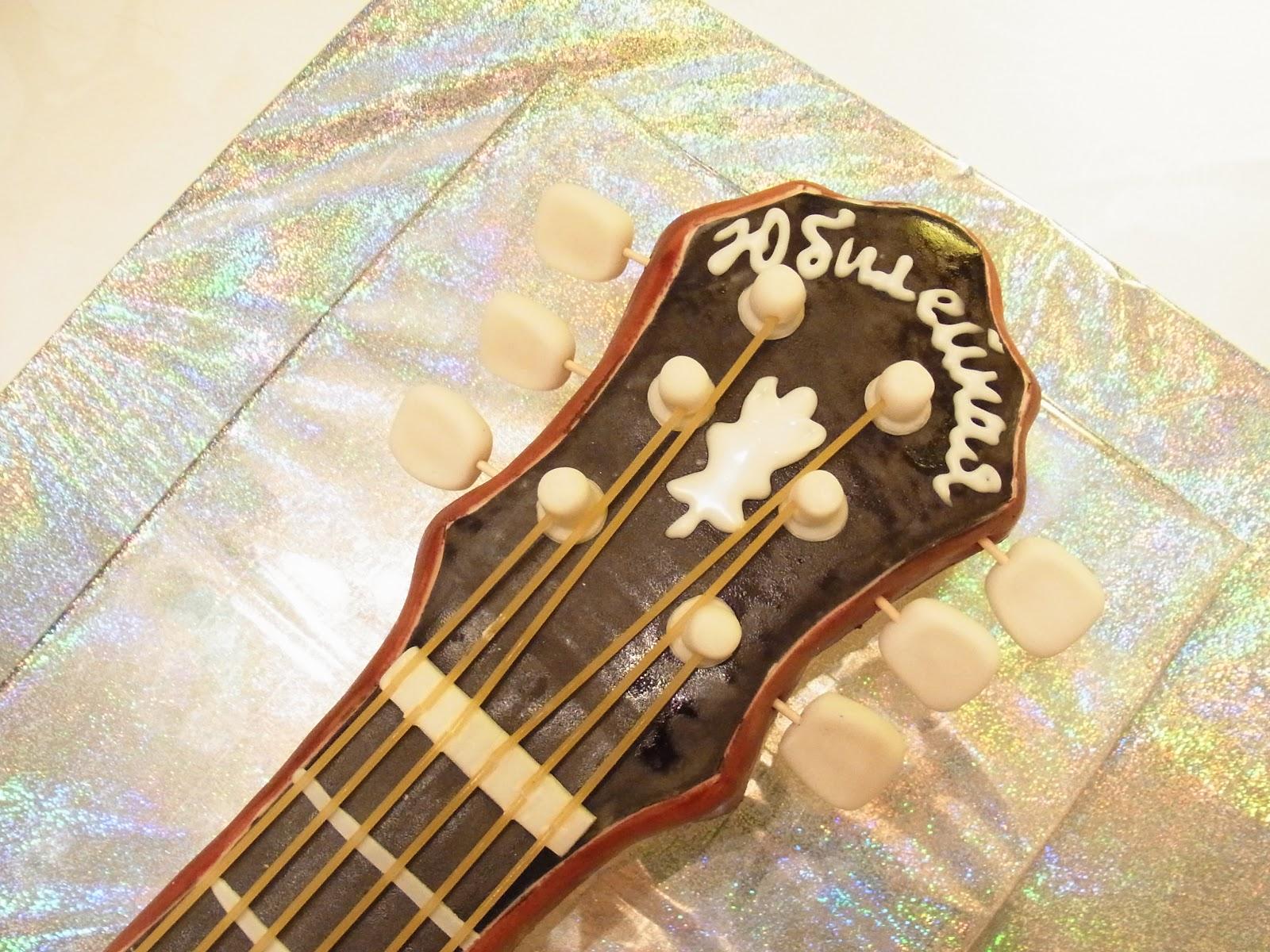Торт гитара как его сделать 235