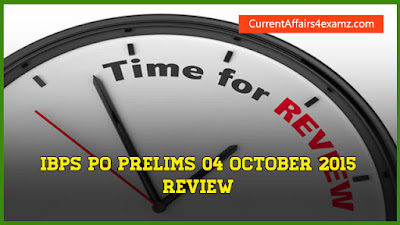 IBPS PO Prelims 2015 Review