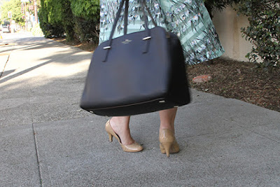 Nude Pumps and Kate Spade Black Bag