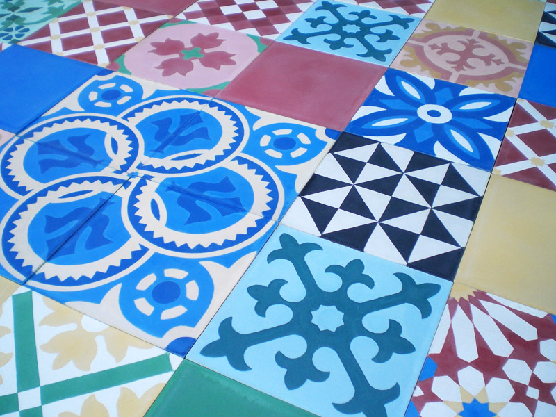 Cement tiles patchwork - Carreaux ciment patchwork ...