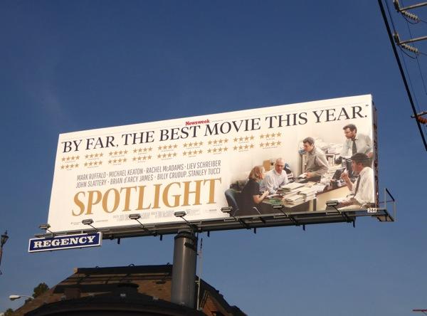 Spotlight Best movie of the year billboard