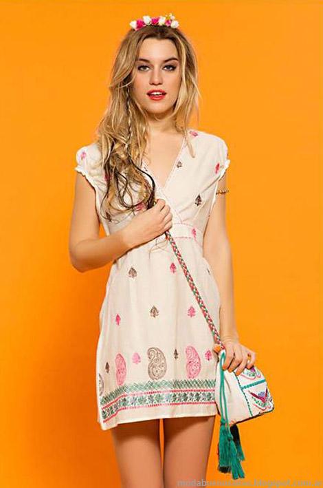 Moda vestidos cortos verano 2015 Sophya.