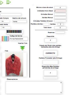 Codigo de barras y fotografia en la descripción del producto
