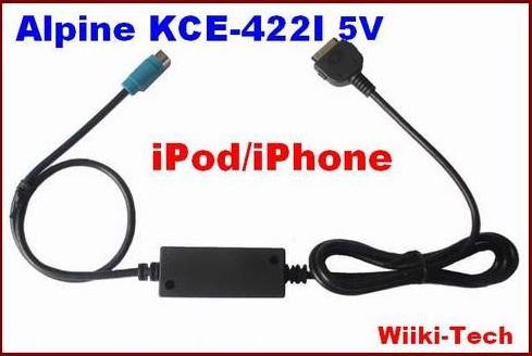 ALPINE KCE-422i 5V CDA-9873 CDA-9884 CDA-9885 CDA-9886 CDA-9887 IPOD CABLE