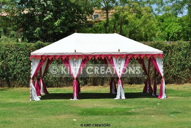 Exclusive Exclusive Tents - This canopy is hut shape design with fantastic color mixture of drapes. This covering is water proof resilient and huge. & Raj Tent-Tent Manufacturers: July 2014