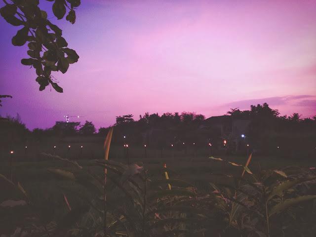 Ikan Bakar Jimbaran- sunset by the padi fields