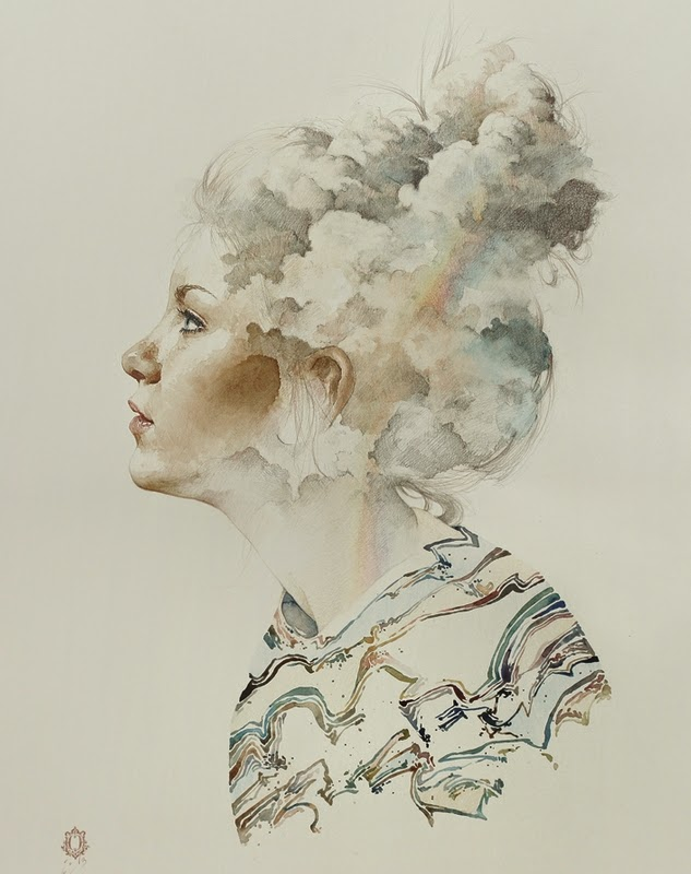 03-Oriol-Angrill-Jordà-Double Exposure-Watercolor-Paintings-www-designstack-co