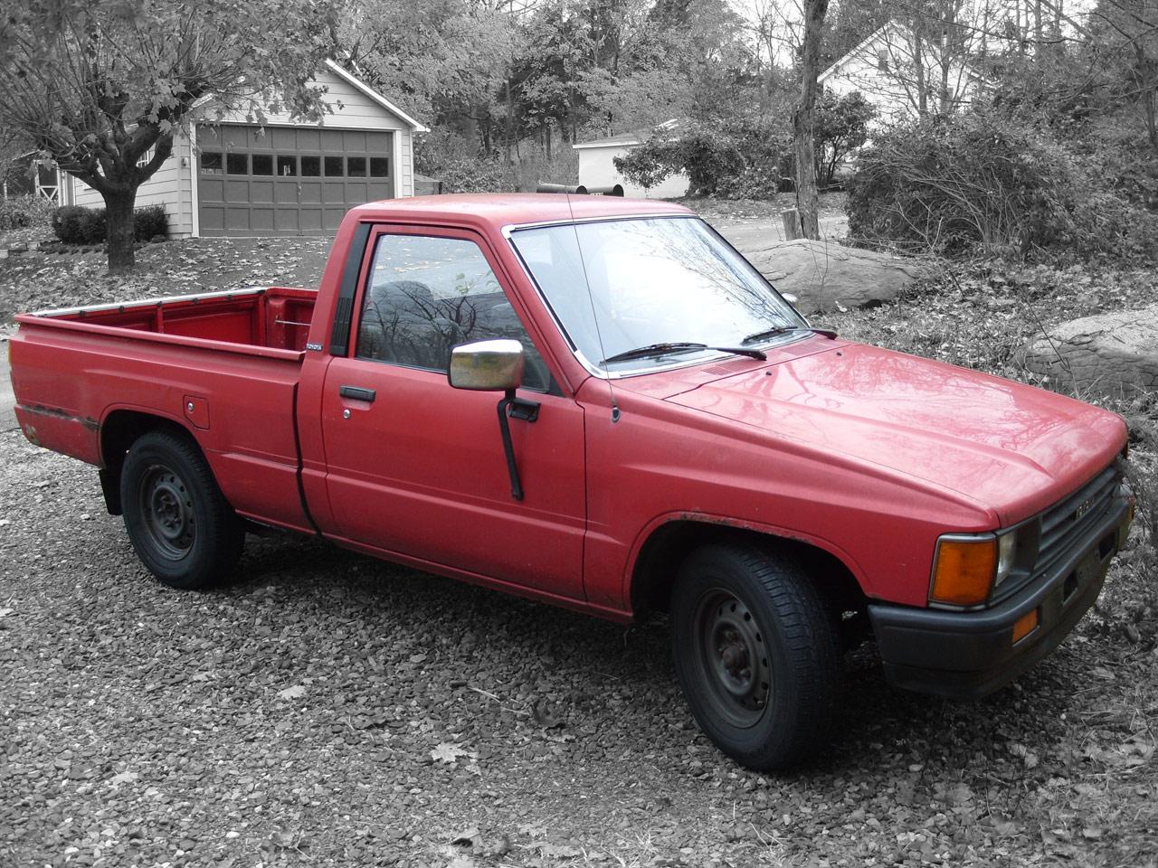red toyota pickup truck. Black Bedroom Furniture Sets. Home Design Ideas