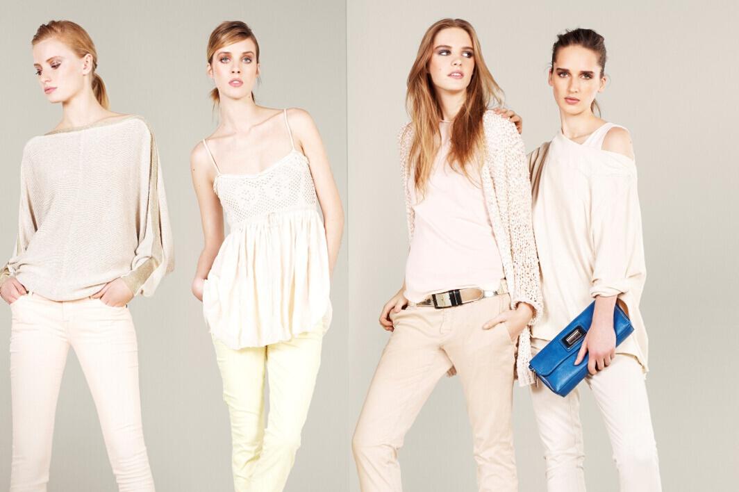 beyaz triko bluz, beyaz bluz, krem bluz, fuşya bluz, beyaz pantolon, askılı bluz, dantelli bluz, dar kesim pantolon, mavi şort
