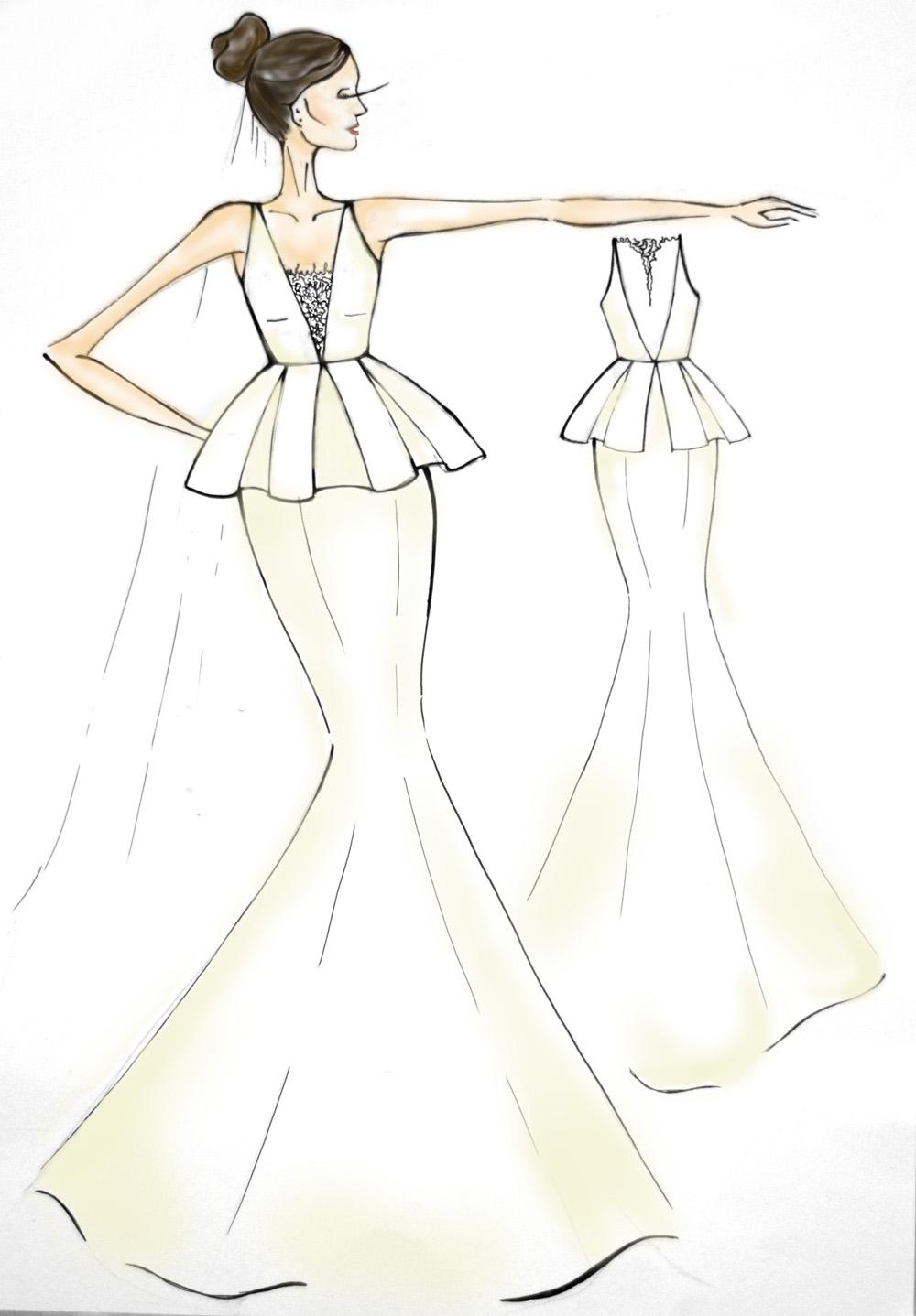 Легкие платья эскизы