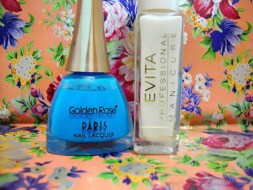 EVITA, glitter, Golden Rose, Nail Polish, Nails, Paris Nail Lacquer