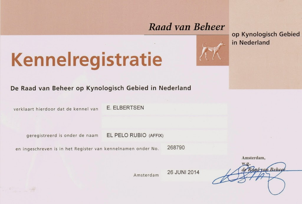 Kennel registratie