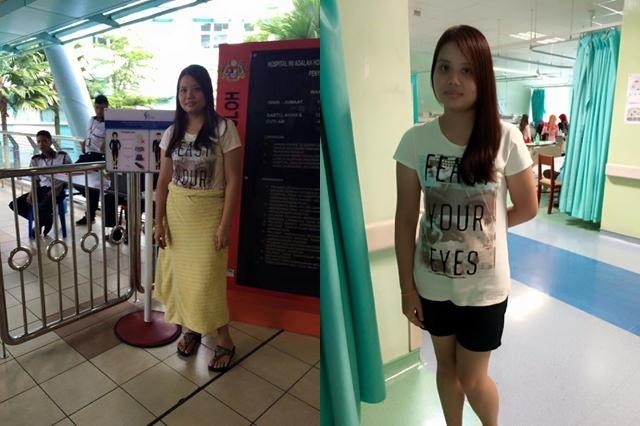 wanita terpaksa pakai kain tuala untuk melawat pesakit