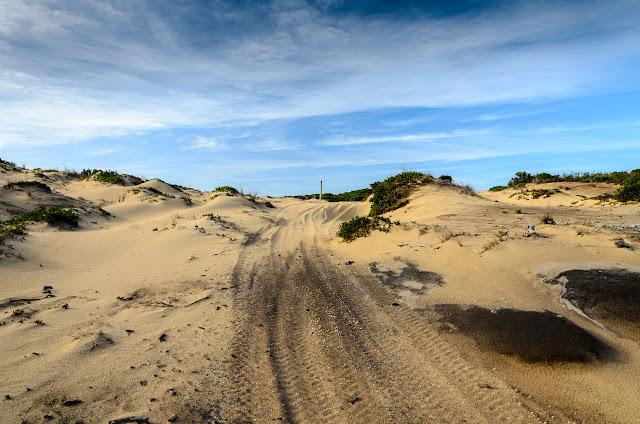 sandy track inland