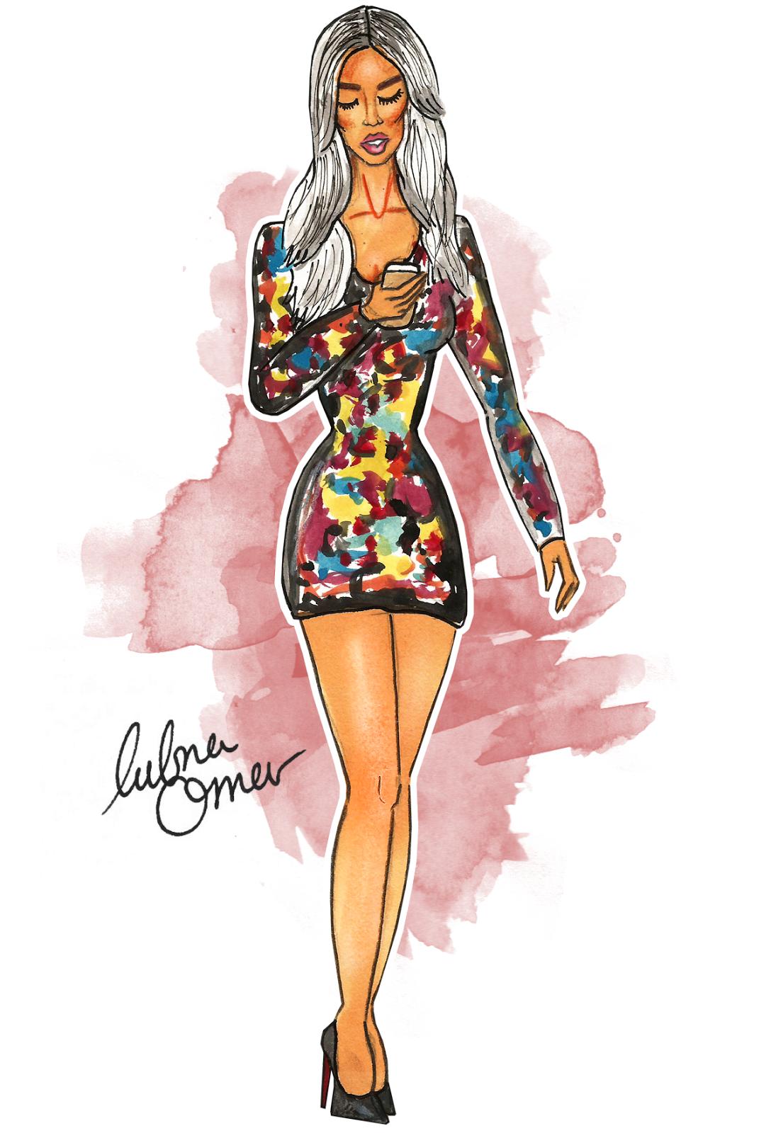 Maya Diab illustration by Lubna Omar