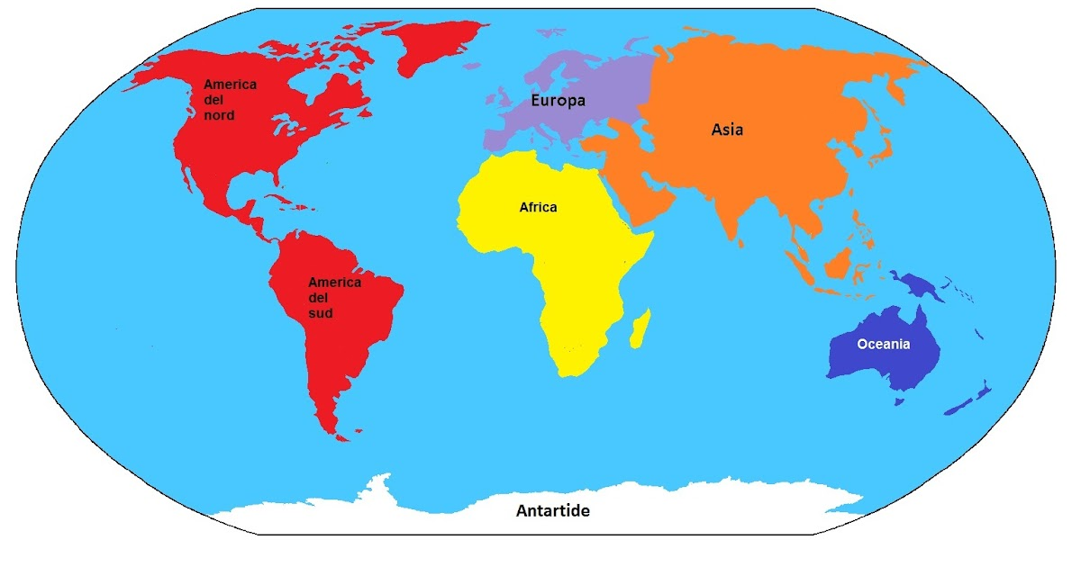 Comunicaazione mappa dei continenti - Foto della mappa del mondo da stampare ...