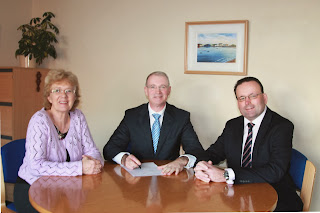 Linda Curran, CEO, Councillor Kieran Dennison Chairman and Guy Thompson, Director of Blanchardstown Area Partnership.