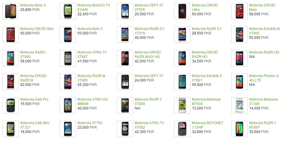site mobile phones price list in pakistan are