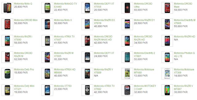 Motorola Mobiles Prices