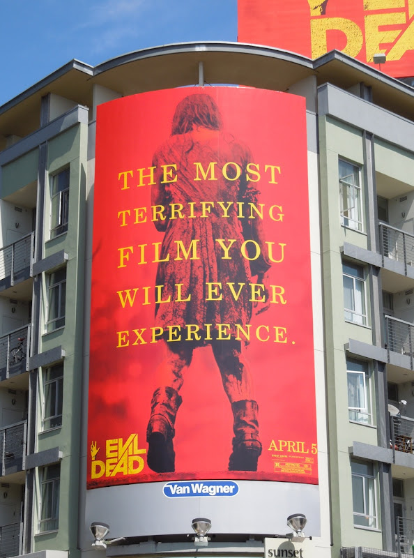 Giant Evil Dead remake billboard