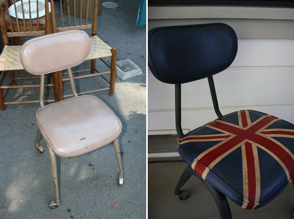union jack chair makeover