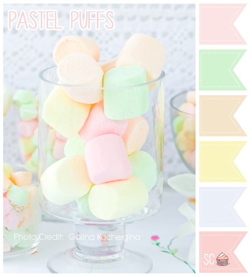Blue Pastel Color Palette Pastel Puffs Color Palette