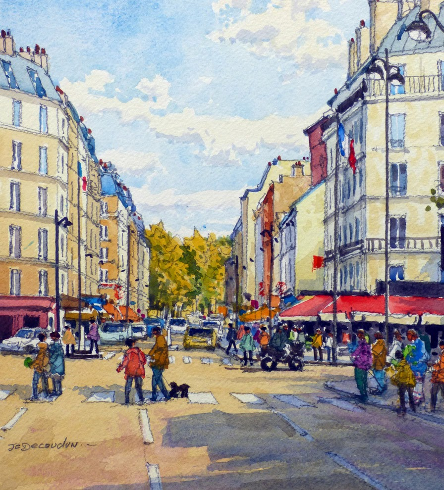 Jean Charles Decoudun A street in Paris
