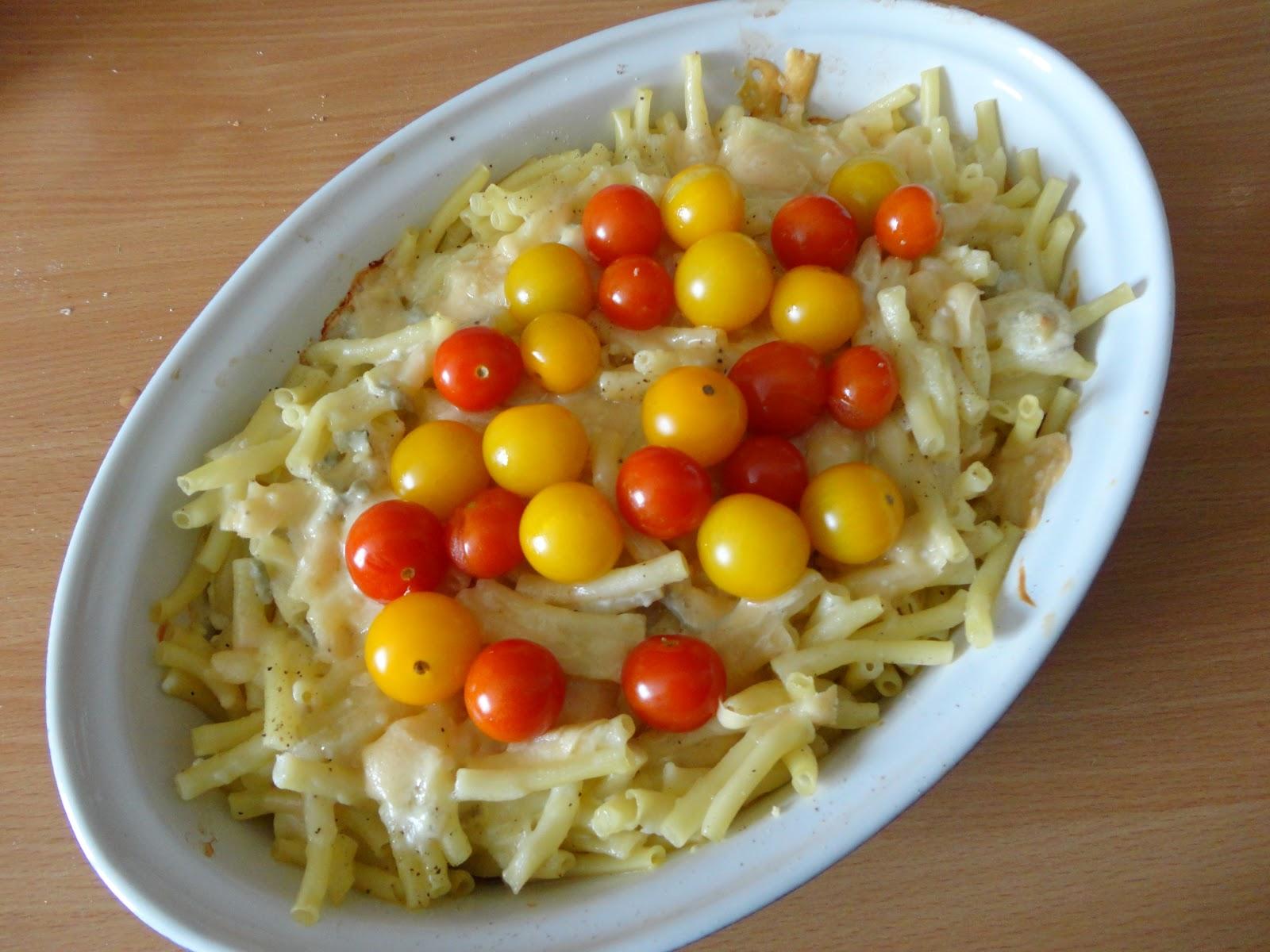 gratin de p 226 tes aux tomates cerises et gorgonzola ma p tite cuisine pour tous les jours