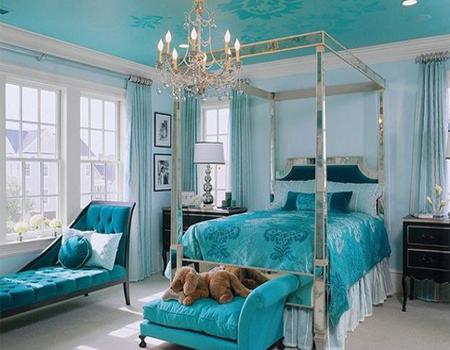 desain kamar tidur bernuansa biru desain rumah minimalis