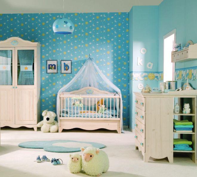 Dormitorio para bebé varón - Dormitorios colores y estilos