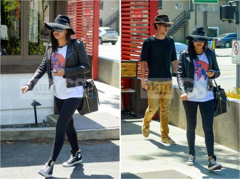 Naya Rivera Maternity Leggings