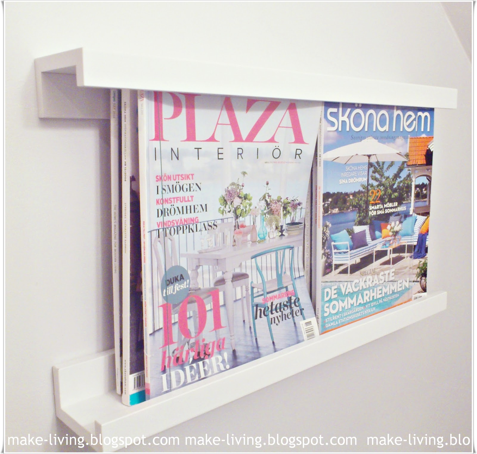 MAKE-LIVING: DIY - Tidningsställ