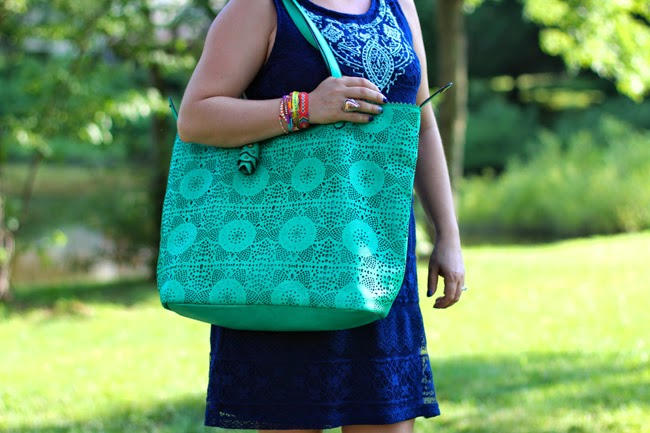 green beach bag from tj maxi