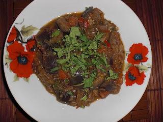 recept voor pikante aubergine met mint