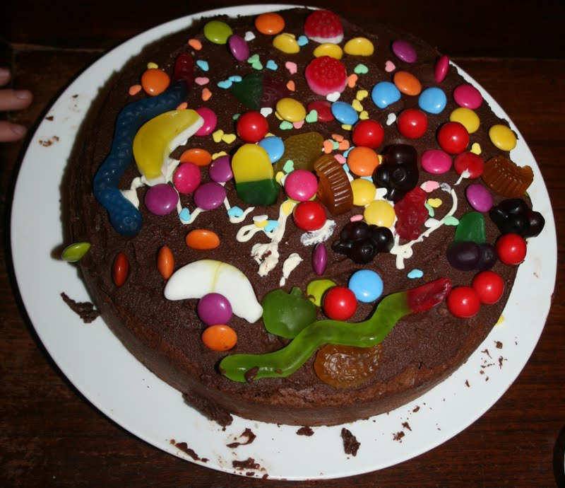 Decorated Lolly Chocolate Cake