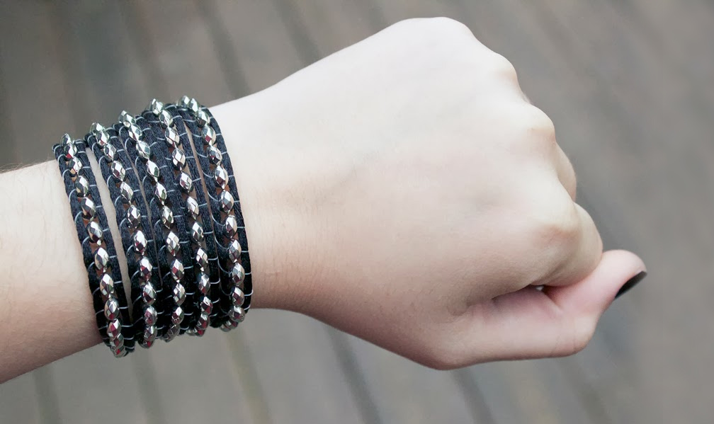 beaded wrap bracelet inspired by Chan Luu by Quiet Lion